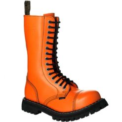 Chaussures coquées oranges 15 trous