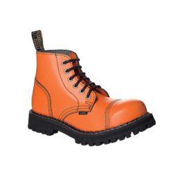 Chaussures coquées oranges 6 trous