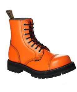 Chaussures coquées oranges 8 trous