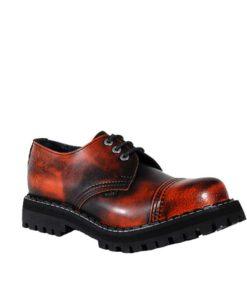 Chaussures coquées oranges noires