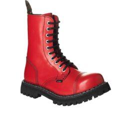 Chaussures coquées rouges 10 trous
