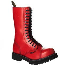 Chaussures coquées rouges 15 trous