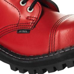 Chaussures coquées rouges (gros plan)