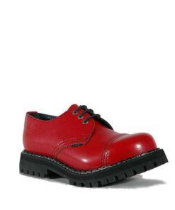 Chaussures coquées rouges 3 trous