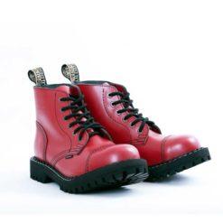 Paire de Chaussures coquées rouges 6 trous