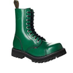 Chaussures coquées vertes 10 trous
