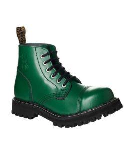 Chaussures coquées vertes 6 trous