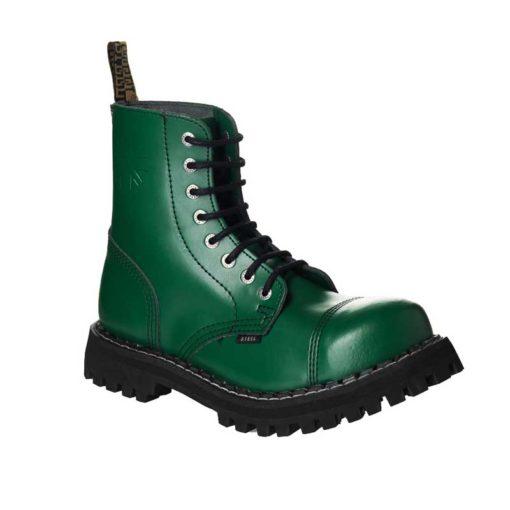 Chaussures coquées vertes 8 trous