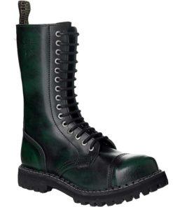 Chaussures coquées vertes noires 15 trous