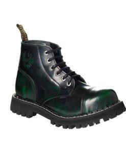 Chaussures coquées vertes noires 6 trous