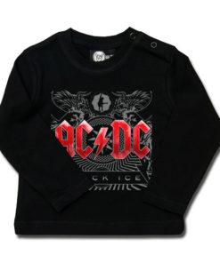 T-shirt ACDC black ice pour bébé à manches longues (noir)