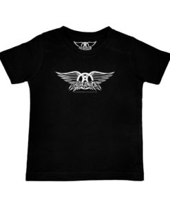 T-shirt rock Aerosmith noir pour enfant