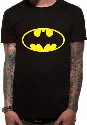 T-shirt BATMAN noir avec le logo jaune