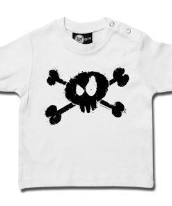 T-shirt bébé tête de mort blanc