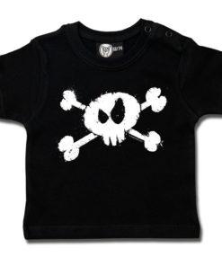 T-shirt bébé tête de mort noir