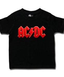 T-shit ACDC pour enfant avec le logo (rouge et noir)