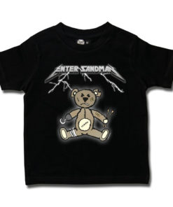 T-shirt rock enfant METALLICA Enter Sandman (noir)