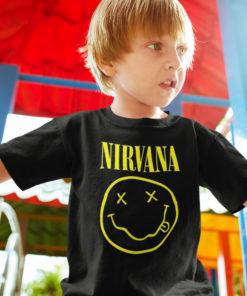 T-shirt Nirvana pour enfant (avec le smiley jaune)