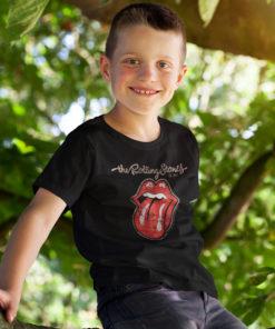 T-shirt rolling Stones pour enfant avec le logo (langue)