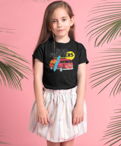 Jeune fille portant un t-shirt foo fighters pour enfant rock