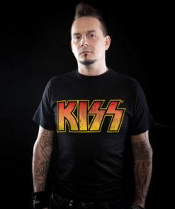 T-Shirt noir du groupe de Rock KISS
