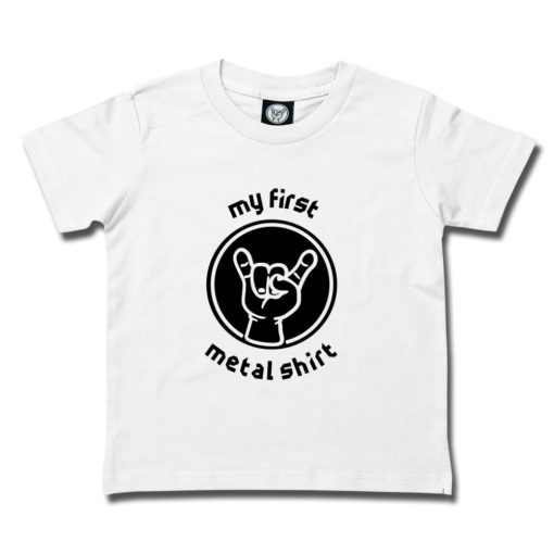 T-shirt rock metal enfant (blanc)