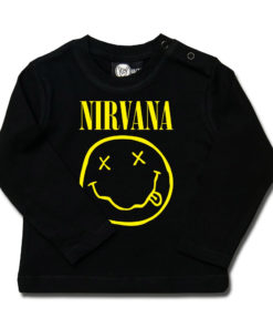 T-shirt Nirvana bébé à manches longues (avec smiley jaune)