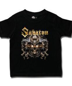 T-shirt rock Sabaton noir pour enfant