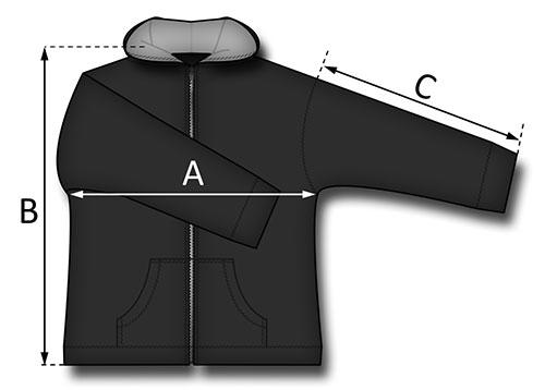 Taille de la veste