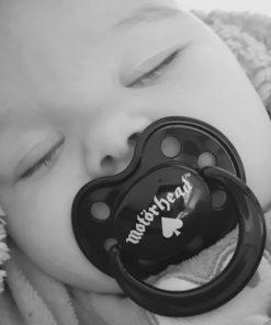 Tétine Motörhead noire pour bébé