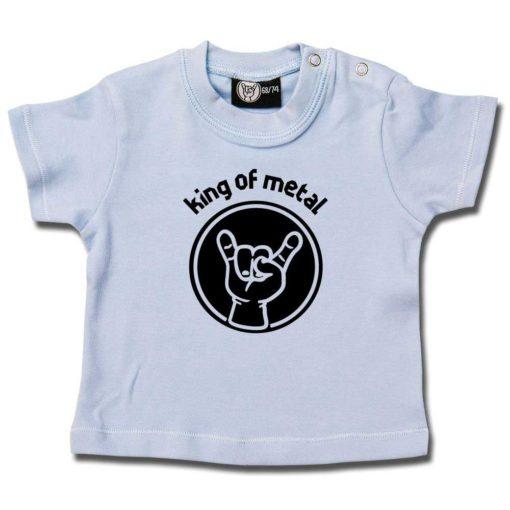 Tshirt bébé King of Metal bleu