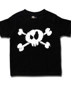 Tshirt enfant avec tête de mort noir