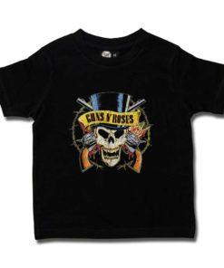 TShirt Guns & Roses noir pour enfant (avec chapequ et crâne)