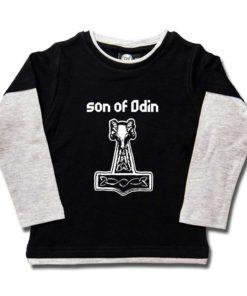 Tshirt Son of Odin (Fils d'Odin) pour enfant et à Manches Longues