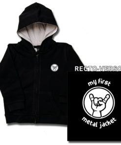 "Veste enfant rock ""MY FIRST METAL JACKET"" noire avec impression recto-verso"