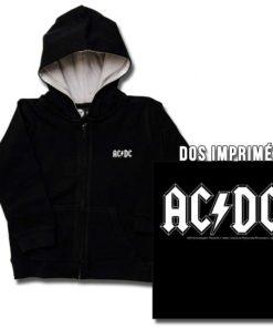 Veste AC/DC noire pour enfant à capuche