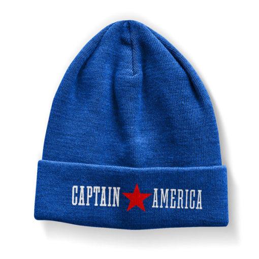 Bonnet Captain America bleu