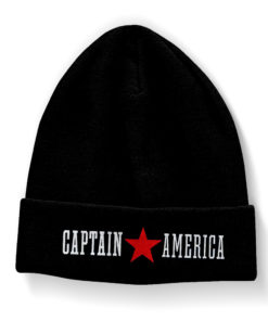Bonnet Captain America noir