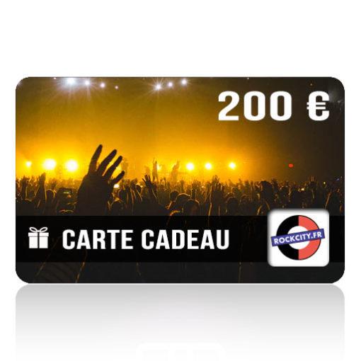Carte cadeau Rockcity 200 euros