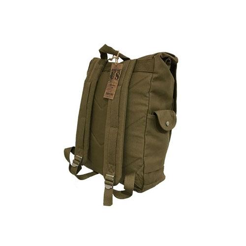 """Sac à dos US Army, en toile, couleur vert kaki, type """"militaire"""" (de dos)"""