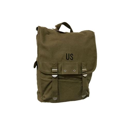 """Sac à dos US Army, en toile, couleur vert kaki, type """"militaire"""" (de face)"""