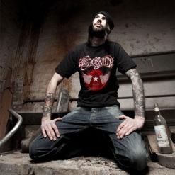 T-shirt Aerosmith noir