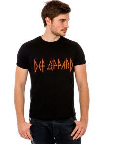 T-shirt logo Def Leppard noir