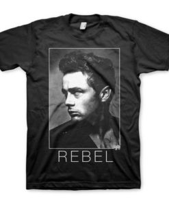 T-shirt James Dean de couleur noir