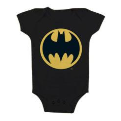 Body Bébé Batman Signal Logo de couleur Noir