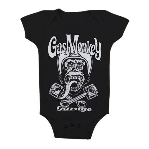 Body Bébé GMG Biker Monkey de couleur Noir
