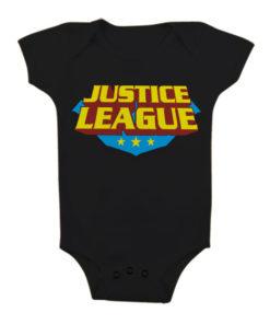 Body Bébé Justice League Classic Logo de couleur Noir