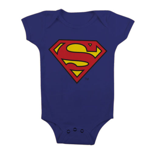 Body Bébé Superman Shield de couleur Bleu Nuit