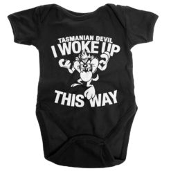 Body Bébé Tasmanian Devil - I Woke Up This Way de couleur Noir