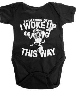 Body Bébé Tasmanian Devil - I Woke Up This Way de couleur Noir